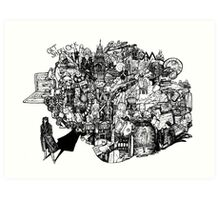 Sherlock World Art Print
