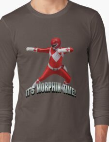 Mighty Morphin Red Ranger - It's Morphin Time! Long Sleeve T-Shirt