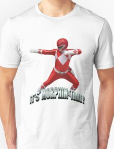 Mighty Morphin Red Ranger - It's Morphin Time! Unisex T-Shirt