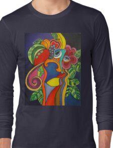 Head With Plants Long Sleeve T-Shirt