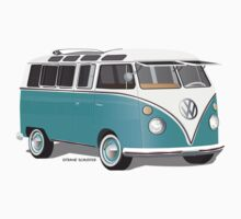 Split VW Bus Teal