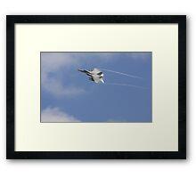 F 18 with a Vapor Trail Framed Print