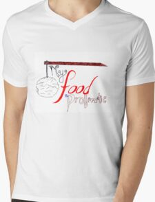 My Food is Problematic - Hand drawn Mens V-Neck T-Shirt
