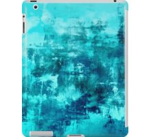 OFF THE GRID 8 Colorful Coastal Fine Art Abstract Watercolor Acrylic Monochrome Turquoise Aqua Teal Painting iPad Case/Skin