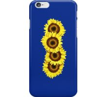 Iphone Case Sunflowers - Dark Blue iPhone Case/Skin