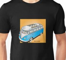 Old Style Barndoor Bus Blue Unisex T-Shirt