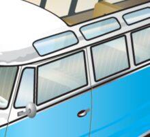 Old Style Barndoor Bus Blue Sticker