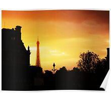 Dusk in Paris Poster