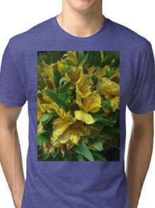 Yellow Iris Flower Bouquet Tri-blend T-Shirt