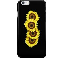 Iphone Case Sunflowers - Midnight Black iPhone Case/Skin
