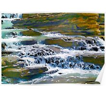 Terraced Falls (Rocky Mountains) Poster