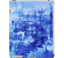 OFF THE GRID 7 Colorful Coastal Fine Art Abstract Watercolor Acrylic Monochrome Turquoise Royal Blue Painting iPad Case/Skin