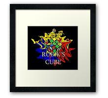 Keep Calm and Solve the Rubik's Cube Framed Print