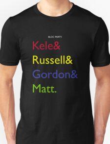 Bloc Party Names T-Shirt