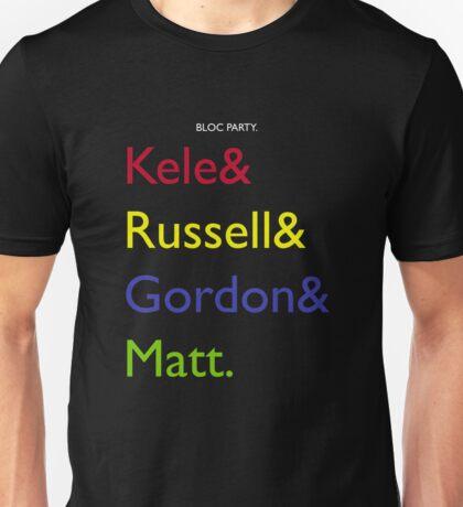Bloc Party Names Unisex T-Shirt