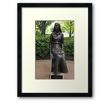 Woman Learning Framed Print