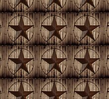 vintage western country barn wood grunge texas star  by lfang77