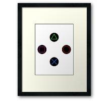 Play Station Controller Framed Print