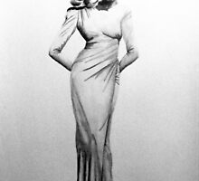 Lauren Bacall by Barry W  King