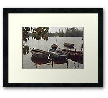 Matanzas boats Framed Print