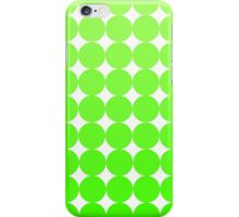 Chartreuse Dots iPhone Case/Skin