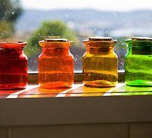 Four Rainbow Glasses  by daisyriding