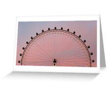 London Eye at dawn Greeting Card