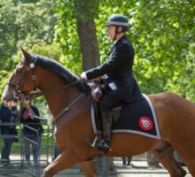 Police officer on horseback at the State Opening Of Parliament London Sticker