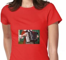 Accordion Sounds Womens Fitted T-Shirt