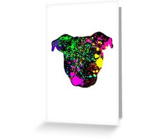 Paint Splatter Pittie Greeting Card