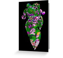 Hippy Chick Card Greeting Card