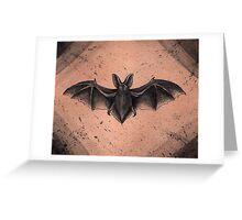 Bat Displayed Greeting Card