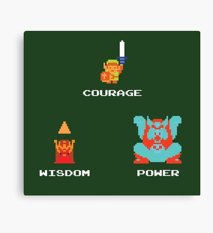 NES Triforce - Courage Wisdom Power - Zelda Canvas Print