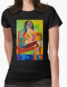 Sitting In The Sun Womens Fitted T-Shirt