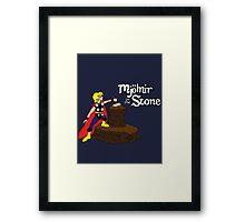 Mjolnir in the Stone (Comic Version) Framed Print