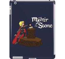 Mjolnir in the Stone iPad Case/Skin