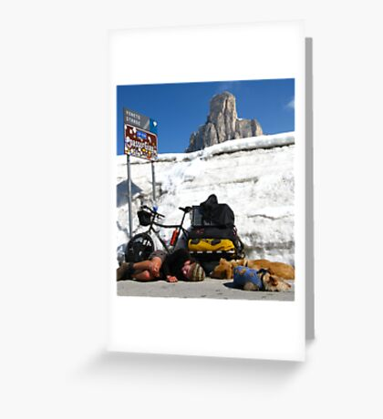The Pass, Italian Dolomites Greeting Card