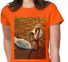 Swan's faithfulness Womens Fitted T-Shirt