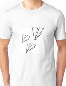 Paper Plane Drawing Unisex T-Shirt