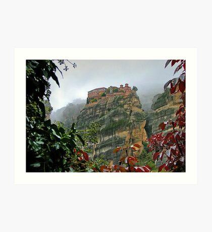 Meteora Monastery World Heritage Site Art Print