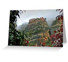 Meteora Monastery World Heritage Site Greeting Card