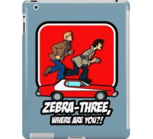 Zebra-Three, Where Are You? iPad Case/Skin