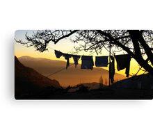 Underpant sunset, Spain Canvas Print
