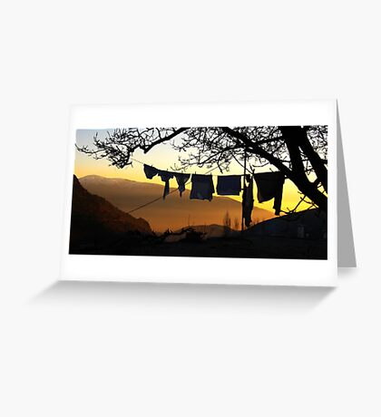 Underpant sunset, Spain Greeting Card