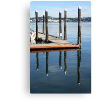 Docks at Port Orchard Canvas Print