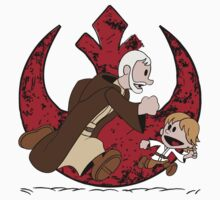 Lets be Jedi (Old Ben & Luke) One Piece - Short Sleeve