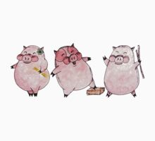 Three Little Pigs Tee by Naomi  O'Connor
