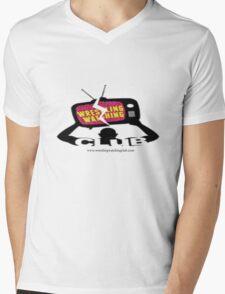 Wrestling Watching Club Logo Mens V-Neck T-Shirt