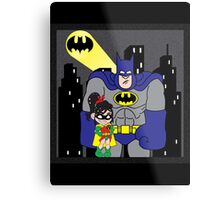 Wreck it Batman! (Blue Suit) Metal Print
