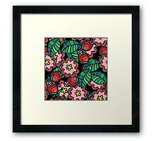 Wild rose flower and blossom Framed Print